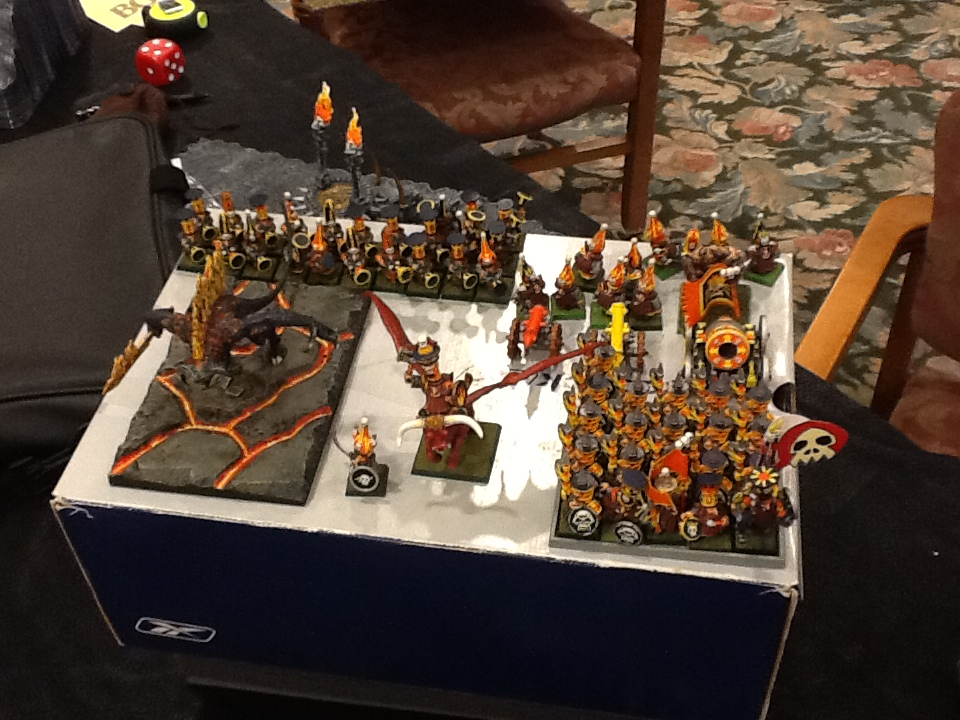 Yes, this really is a 2500 point army.  Don't let the size fool you.  Also - his base was awesome for the Destroyer!