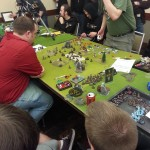 Dan Sammons in the finals round of Warmachine masters, losing to some pretty famous dude with three letters for a name.