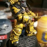My test model for the Imperial Fists.  I absolutely love the Mark III armor now - I think it is the best looking space marine armor out there.