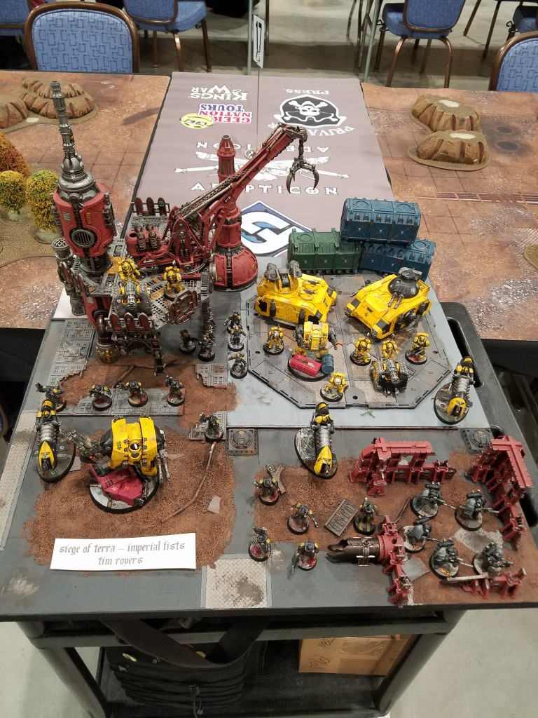 My display board for the Adepticon singles. I was really happy with how it turned out!